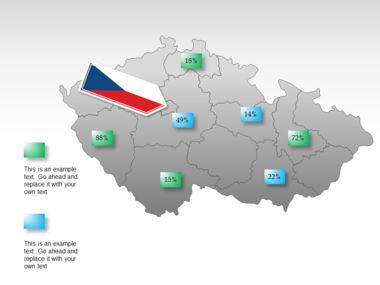 Czech Republic PowerPoint Map Slide 15