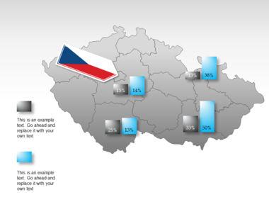 Czech Republic PowerPoint Map Slide 16