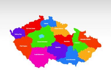 Czech Republic PowerPoint Map, Slide 2, 00028, Czech Republic — PoweredTemplate.com