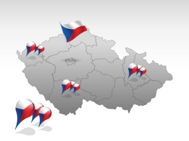 Czech Republic PowerPoint Map, Slide 4, 00028, Czech Republic — PoweredTemplate.com