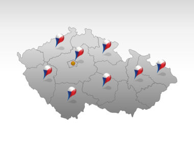 Czech Republic PowerPoint Map, Slide 5, 00028, Presentation Templates — PoweredTemplate.com