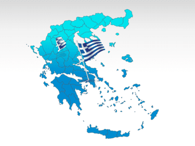 Greece: Griekenland PowerPoint Kaart #00029