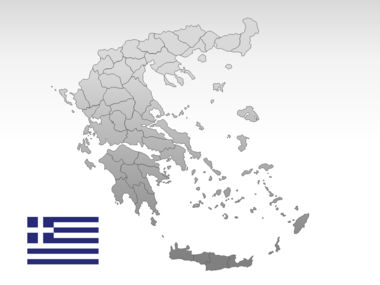 Greece PowerPoint Map Slide 10