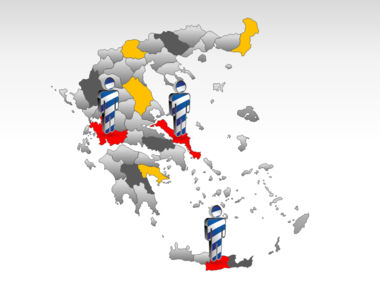 Greece PowerPoint Map Slide 11