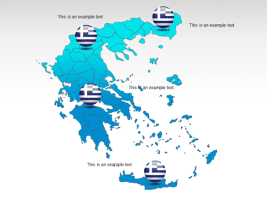 Greece PowerPoint Map Slide 12