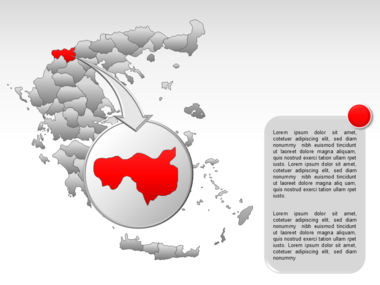 Greece PowerPoint Map Slide 13