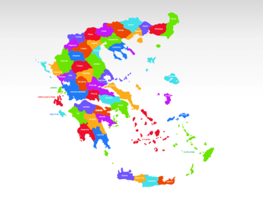 Greece PowerPoint Map, Slide 2, 00029, Greece — PoweredTemplate.com