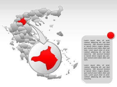 Greece PowerPoint Map Slide 22