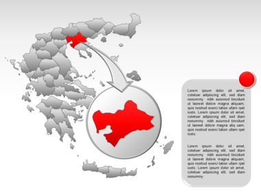 Greece PowerPoint Map Slide 24