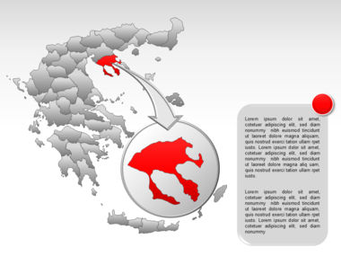 Greece PowerPoint Map Slide 25