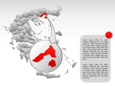 Greece PowerPoint Map Slide 30