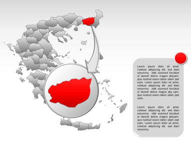 Greece PowerPoint Map Slide 32