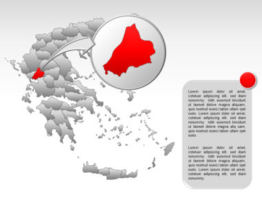 Greece PowerPoint Map Slide 38
