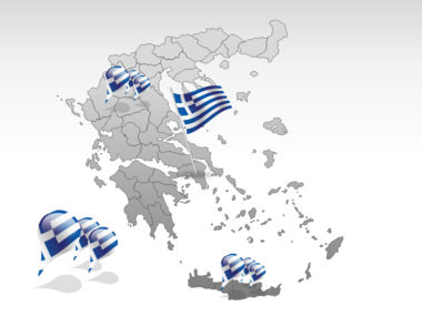 Greece PowerPoint Map, Slide 4, 00029, Greece — PoweredTemplate.com