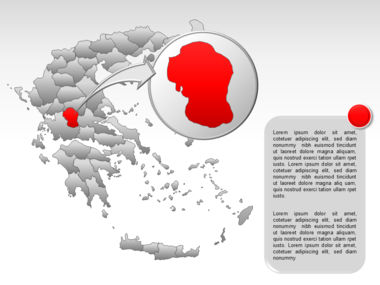 Greece PowerPoint Map Slide 40