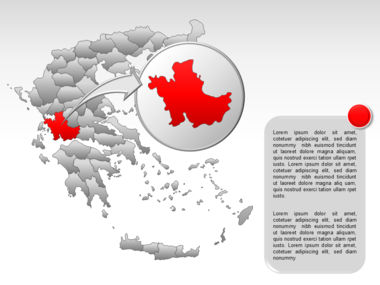 Greece PowerPoint Map Slide 41