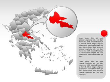 Greece PowerPoint Map Slide 43