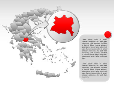 Greece PowerPoint Map Slide 44