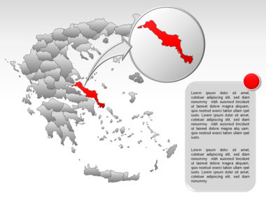 Greece PowerPoint Map Slide 45