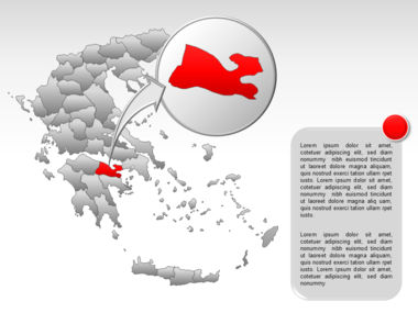 Greece PowerPoint Map Slide 48