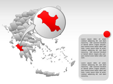 Greece PowerPoint Map Slide 50