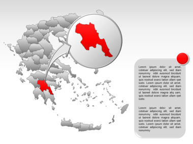 Greece PowerPoint Map Slide 51