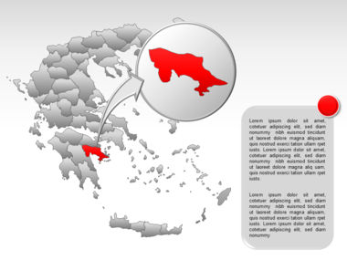 Greece PowerPoint Map Slide 52