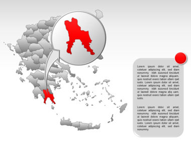 Greece PowerPoint Map Slide 54