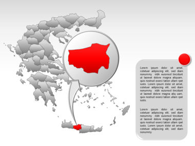 Greece PowerPoint Map Slide 56