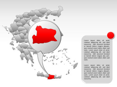 Greece PowerPoint Map Slide 57
