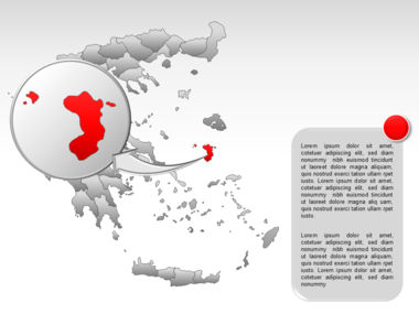 Greece PowerPoint Map Slide 62
