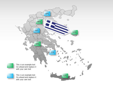 Greece PowerPoint Map Slide 64