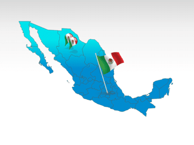 Mexico: Carte PowerPoint de Mexique #00030