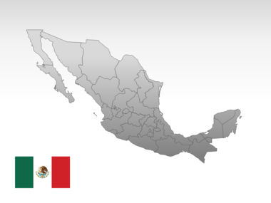 Mexico PowerPoint Map Slide 10