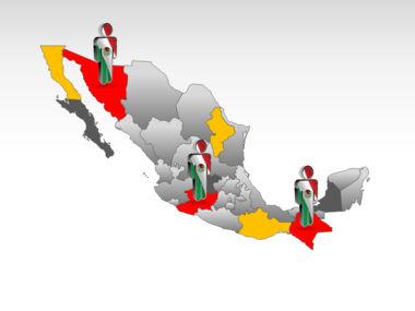 Mexico PowerPoint Map, Slide 11, 00030, Presentation Templates — PoweredTemplate.com