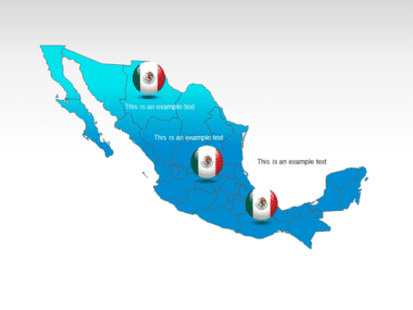 Mexico PowerPoint Map Slide 12