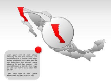 Mexico PowerPoint Map, Slide 13, 00030, Presentation Templates — PoweredTemplate.com