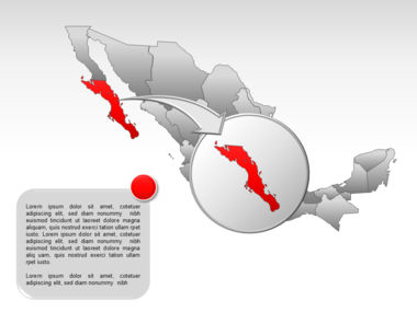 Mexico PowerPoint Map, Slide 14, 00030, Presentation Templates — PoweredTemplate.com