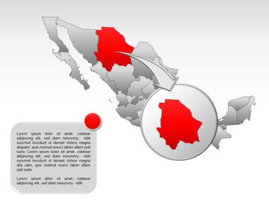 Mexico PowerPoint Map, Slide 16, 00030, Presentation Templates — PoweredTemplate.com