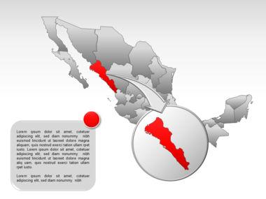 Mexico PowerPoint Map, Slide 17, 00030, Presentation Templates — PoweredTemplate.com