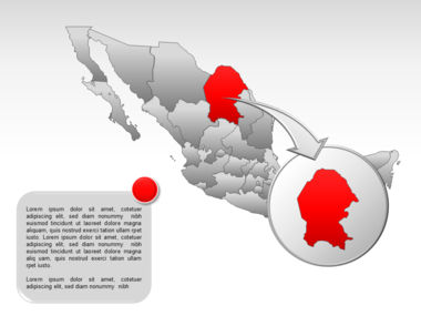 Mexico PowerPoint Map Slide 19