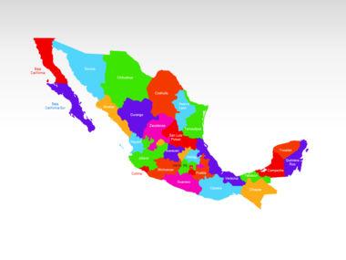 Mexico PowerPoint Map, Slide 2, 00030, Presentation Templates — PoweredTemplate.com