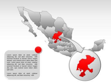 Mexico PowerPoint Map, Slide 20, 00030, Presentation Templates — PoweredTemplate.com