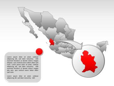 Mexico PowerPoint Map, Slide 21, 00030, Presentation Templates — PoweredTemplate.com