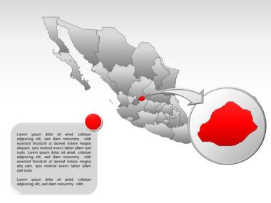 Mexico PowerPoint Map, Slide 23, 00030, Presentation Templates — PoweredTemplate.com