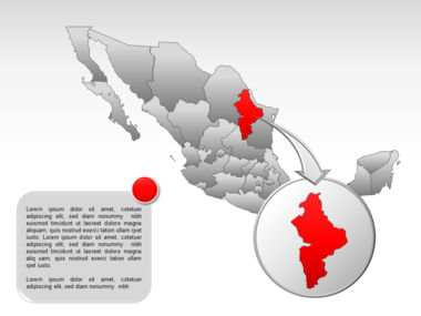 Mexico PowerPoint Map Slide 24