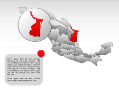 Mexico PowerPoint Map, Slide 25, 00030, Presentation Templates — PoweredTemplate.com