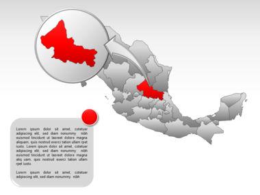 Mexico PowerPoint Map, Slide 26, 00030, Presentation Templates — PoweredTemplate.com