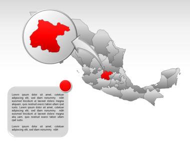 Mexico PowerPoint Map, Slide 27, 00030, Presentation Templates — PoweredTemplate.com