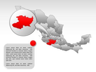 Mexico PowerPoint Map, Slide 28, 00030, Presentation Templates — PoweredTemplate.com